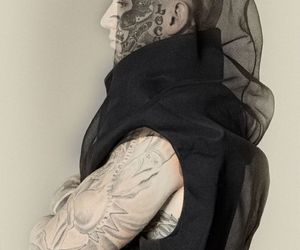black, black veil, and dark image
