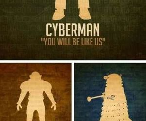 cyberman, doctor who, and weeping angel image