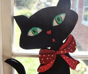 art, heart, and kitten image