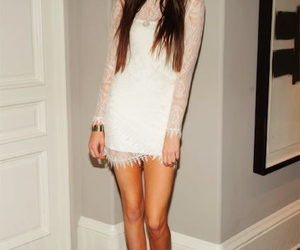 dress, kendall jenner, and white image