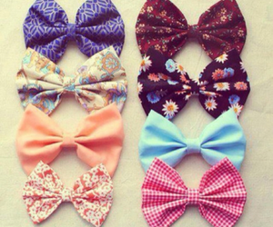 bow, flowers, and girly image