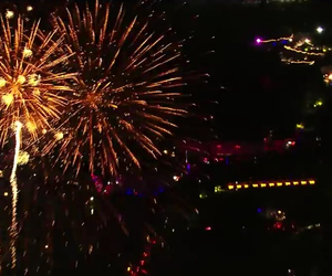awesome, fireworks, and music image