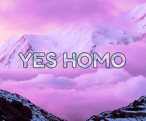 clouds, yes homo, and emo image