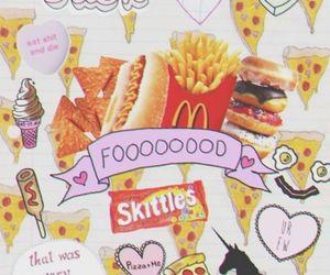 food, pizza, and unicorn image