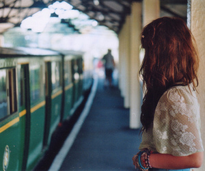 girl, train, and hair image