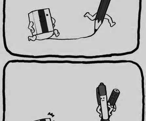 funny, pen, and pencil image