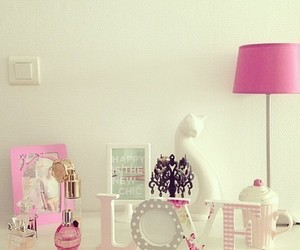 room, pink, and love image