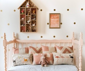 bed, kids, and cute image