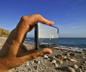 ipod, beach, and photography image