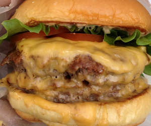 burger, food, and beef image