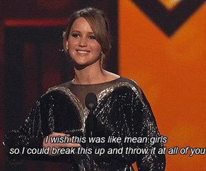 Jennifer Lawrence and mean girls image