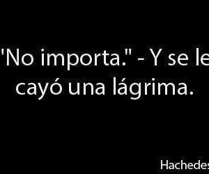 frases, cry, and no importa image
