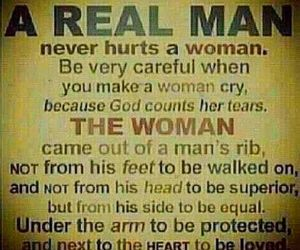 quote, man, and real man image