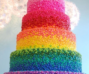 cake, colorful cake, and desserts image