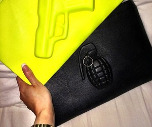 bag, fashion, and gun image