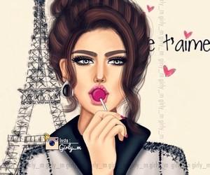 draw, girly, and paris image
