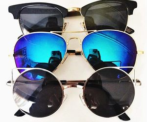 style, sunglasses, and blue image