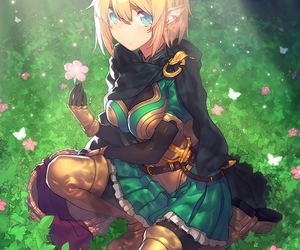 anime, fantasy, and elf image
