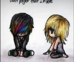 emo, sadness, and always here image