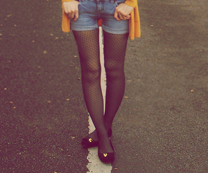 girl, tights, and legs image