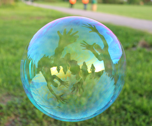 bubble, garden, and green image