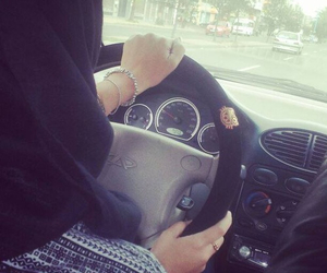 hijab and car image
