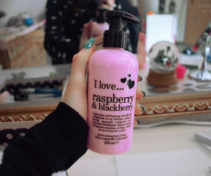 quality, lotion, and pink image
