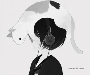 black and white, cat, and meow image