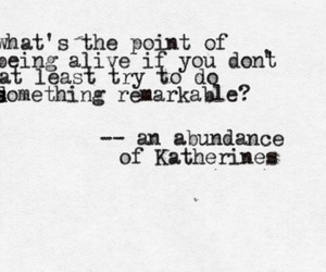 books, john green, and an abundance katherines image