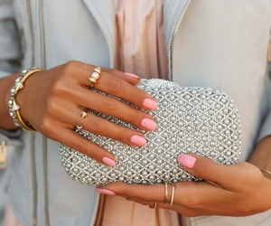 fashion, nails, and pink image