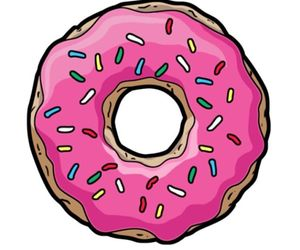 donuts, pink, and transparent image