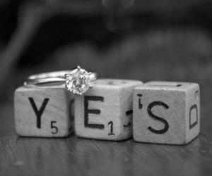 yes, ring, and marriage image