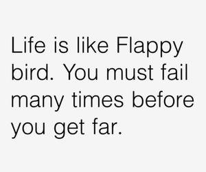 life, flappy bird, and fail image