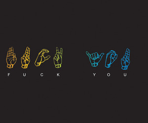 fuck you, text, and hands image