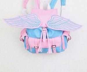 bag, pink, and blue image