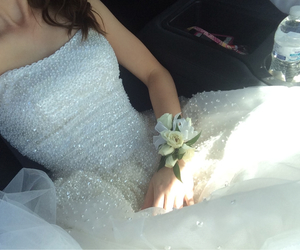 ballgown, beautiful, and brunet image