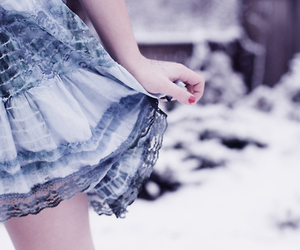 blue, vintage, and winter image