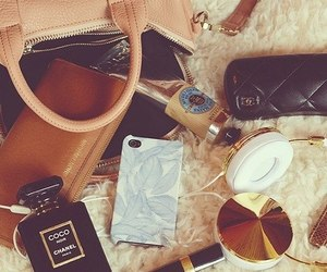 bag, chanel, and iphone image