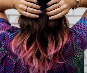 dip dye, pink, and jewlery image