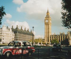 london, Big Ben, and car image