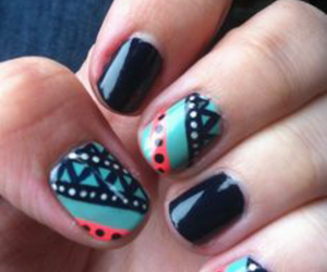 indie, aztec nails, and tribal image