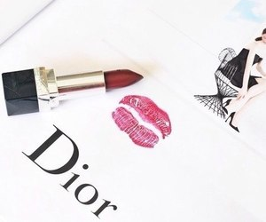 dior, red, and lipstick image