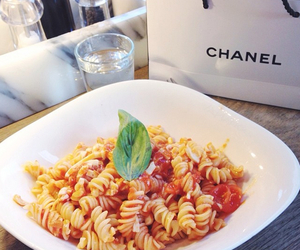 food, pasta, and chanel image