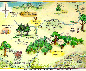 map, winnie the pooh, and disney image