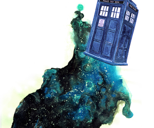 doctor who, blue, and tardis image