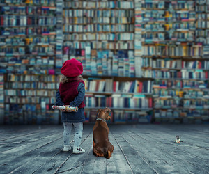 book and dog image