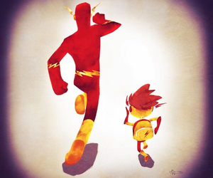 flash, young justice, and justice league image