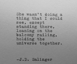 quote, universe, and Salinger image