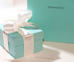blue, bow, and tiffany&co image