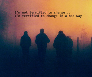 change, sad, and firends image